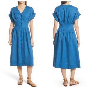 SEA blue linen sun dress